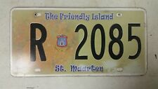 EXPIRED ST. MAARTEN The Friendly Island License Plate R 2085