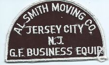 AL Smith Moving Co Jersey City NJ GF Business equip truck driver patch 3X4-3/4