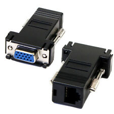 VGA Extensor Hembra A Lan Cat5 Cat5e RJ45 Ethernet Adaptador Hembra Excelente