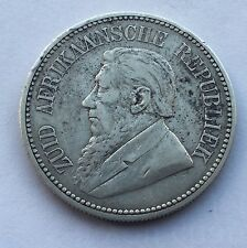 1892 Half Crown 2.5 Shilling Paul Kruger pre Boer War ZAR coin South Africa NICE