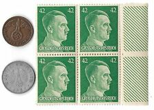 Rare Very Old WWII SS Hitler Nazi Germany Coin Stamp Collection German War Lot