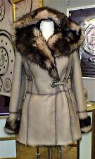 Luxus Designer Lammfelljacke mit echtem Toskana Fell m Kapuze Gr.34/36 NEU