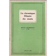 La CHRONIQUE Filmée du Mois PALESTINE Cézanne La MODE Illustré N°29 Juillet 1936