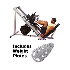 Body Solid Leg Press Hack Squat Hip Sled GLPH1100 Plus 455 lbs. of Weight Plates