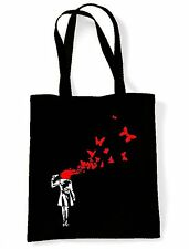 Banksy Butterfly Suicide Eco Friendly Tote  Shoulder Bag - Butterflies Girl