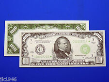 Replica $1000 1934 FRN US Paper Money Currency Copy