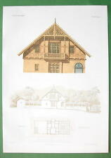 ARCHITECTURE COLOR PRINT : Germany Summer House at Muhlhausen