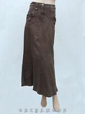 Jupe COOL T. 36 S 1 Longue 95% Coton 4 poches Marron Patte TBE skirt Rock Falda