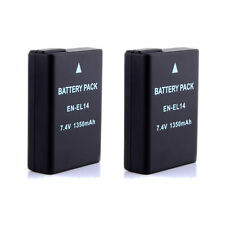 2Pack New Camera Battery EN-EL14 EN-EL14 for Nikon P7000 D3100 D3200 D5100 D5300