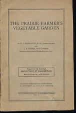 Prairie Farmer's Vegetable Garden Canada Department of Agriculture Vtg Botany !!