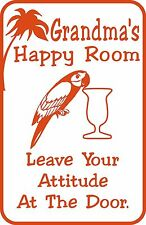 Custom Personalized Happy Room Bar Home Decor Funny Gift Sign