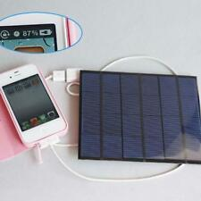6V Portable Outdoor Solar Panel Power Bank Pack USB External Battery Charger AD