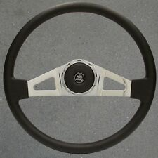 VIP 27 New 18 inch Chrome and Leather Peterbilt Steering Wheel , Peterbuilt, All