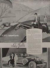 PUBLICITE AUTOMOBILE LA SALLE VOITURE DE SPORT POLO CHEVAL ANIMAL DE 1927 AD CAR