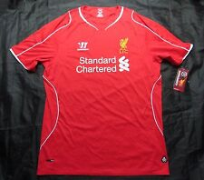 NEW The Reds FC LIVERPOOL home jersey shirt Warrior 2014-2015 red/ ADULT SIZE XL