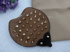 BNWoT Authentic BURBERRY Suede Leather Studded Hedgehog Coin Purse