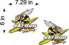 SKI-DOO PAIR TECHNO BEE Team Racing Logo / vehicle / snowmobile decals / sticker