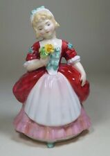 Royal Doulton Girl Child Figure Figurine VALERIE HN 2107 Red and Pink Colourway