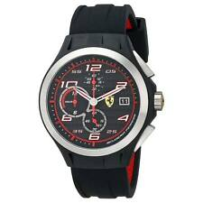 Ferrari 830015 Gent's Black Dial Black Strap Chrono Quartz Watch