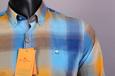 New Multi-Color Etro Casual Men's Shirt Size XXL