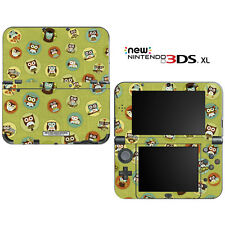 Cute Owl Green Pattern for New Nintendo 3DS XL Skin Decal Cover