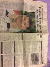 Newspaper Article On F1 David Coulthard 1999 Season