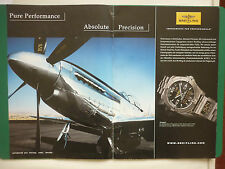 2007 PUB MONTRE BREITLING WATCHES SUISSE AEROSPACE P-51 MUSTANG GERMAN AD