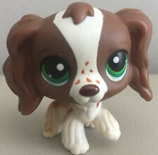 Littlest Pet Shop LPS Cocker Spaniel #156 Brown And White Green Eyes Freckles