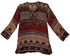Indian cotton BLOUSE TOP BOHO ETHNIC hippie WOMEN EHS BLUSA  retro gypsy TUNIC