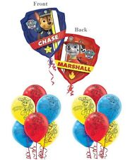 Paw Patrol (13PC) Foil Latex Balloons Bouquet Birthday Party Supplies