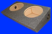 "FORD F150 SUPERCREW 2000-03 DUAL 10"" UP-FIRE GREY SUBWOOFER SUB ENCLOSURE BOX"