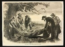 1862 Newspaper Print, The Burial of Mr Burke by Mr Howitt's Party, Australia