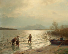 Beachfront Fishing Hans Fredrik Gude   24'  CANVAS