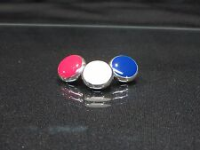 Yamaha Xeno Silver Trumpet Buttons by Noteworthy Products Red, White, and Blue