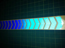 48 INCH 1.2m LONG REFLECTIVE CHEVRON STICKERS / DECALS 60mm HIGH BL