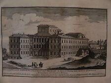 M Roma Alessandro Specchi Palazzo Barberini acquaforte originale 1700 Bernini