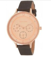 Skagen Watch * SKW2392 Anita Rose Gold Grey Leather for Women COD PayPal