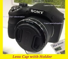 LENS CAP fits DIRECTLY TO CAMERA SONY CYBERSHOT DSC-HX1 HX 1 DSCHX1 +HOLDER