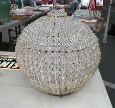 "VINTAGE ANTIQUE ROUND BEADED DOME LAMP LIGHT SHADE 8 1/2""  VERY NICE"