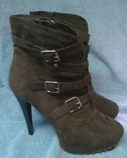 women's size 10 ankle high heel boots with buckles
