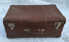 Old Vintage Embassy Suitcase Kids Retro DisplayTravel Antique Brown Luggage Case