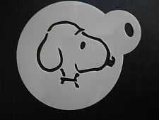 Laser cut small snoopy head design cake, cookie,craft& face painting stencil
