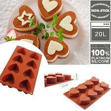 8-Cavity Heart-shaped Silicone Mould Cake Chocolate Soap Mold Cupcake Baking Pan
