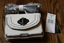 NWT OrYany White Leather iPhone Pouchette Smartphone Case Wallet mini purse $168