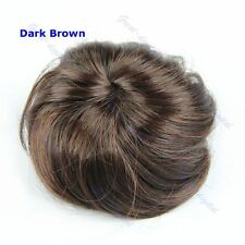 Women Girl Pony Tail Clip in/on Tail Hair Bun Hairpiece Extension Hair Scrunchie