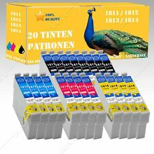 20x non-ORIGINALE COMP inchiostro CARTUCCE PER EPSON Home xp215/xp212 con chip cn008