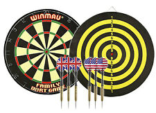 Winmau Darts Complete package deal set DARTS & 45cm BOARD 2.75kg!