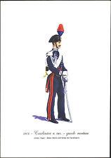 STAMPA UNIFORMI STORICHE - CARABINIERE A CAV. - GRANDE MONTURA 1864 - DEGAI