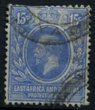East Africa & Uganda 1921-2 SG#70, 15c Bright Blue KGV Used Cat £20 #D31066