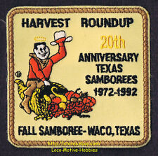 LMH Patch 1972 1992 GOOD SAM CLUB  Fall Samboree Rally  20th Anniv. WACO TX Sams